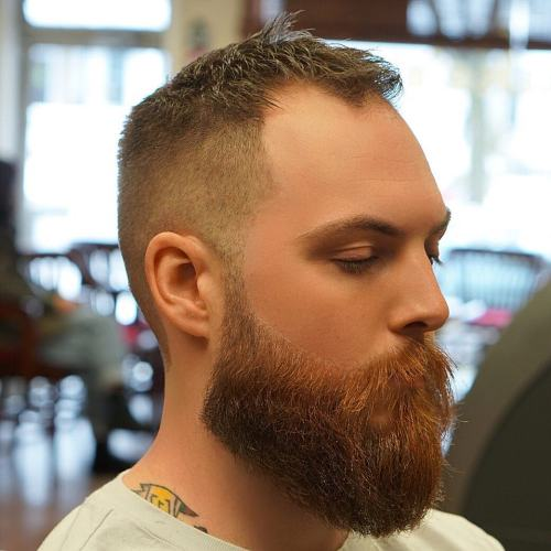 High And Tight Cut With Thick Beard