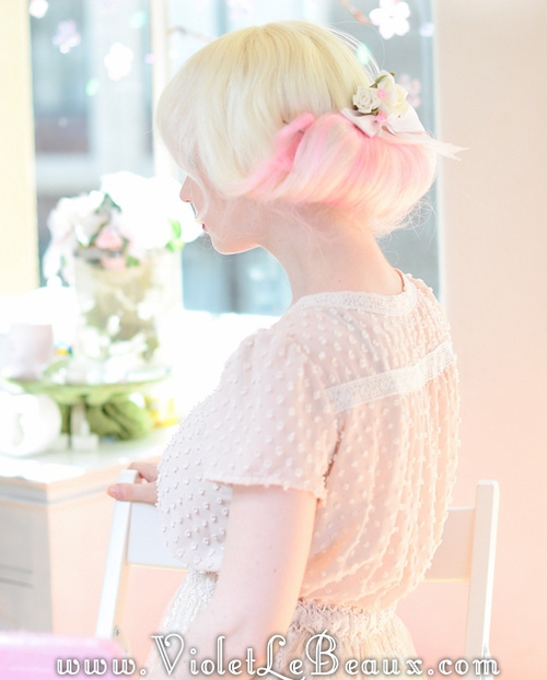 fancy vintage updo for blonde hair