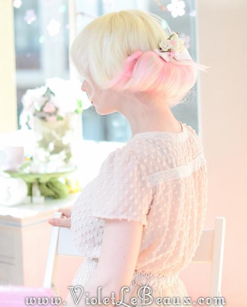 fancy vintage updo for blonde hair