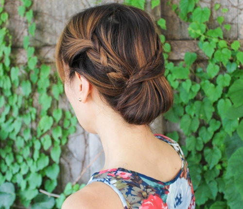 Braided Updo With A Chignon