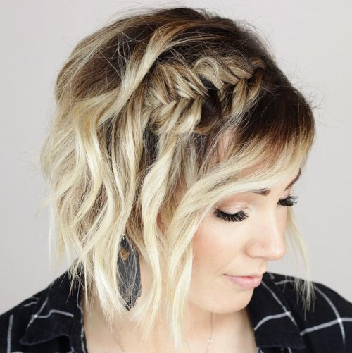 Half Up Half Down Hairstyle For Short Hair