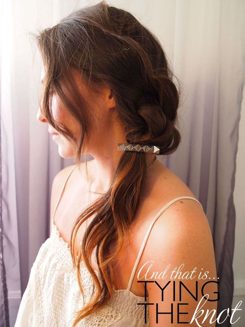 loose side ponytail updo
