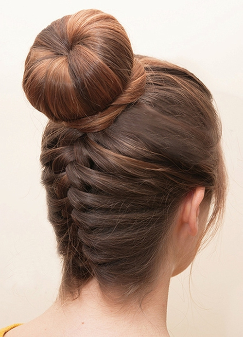 18 tasteful homecoming updos braided homecoming updo with a bun pmusecretfo Choice Image