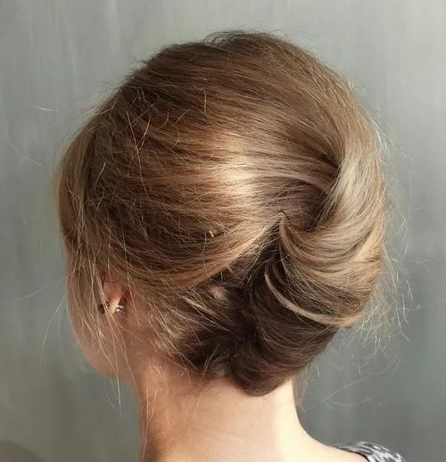french twist for thin hair
