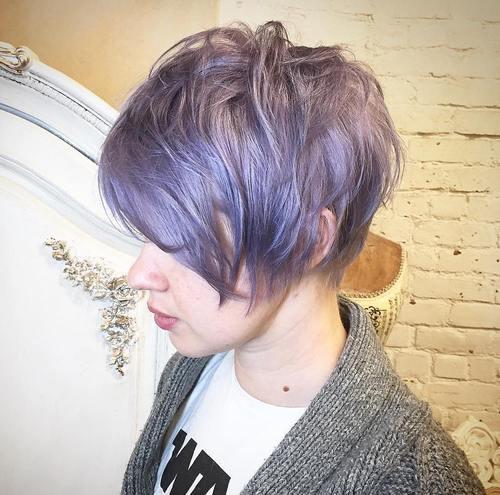 Long Pastel Purple Pixie