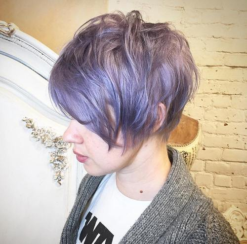 Long Pastel Purple Pixie