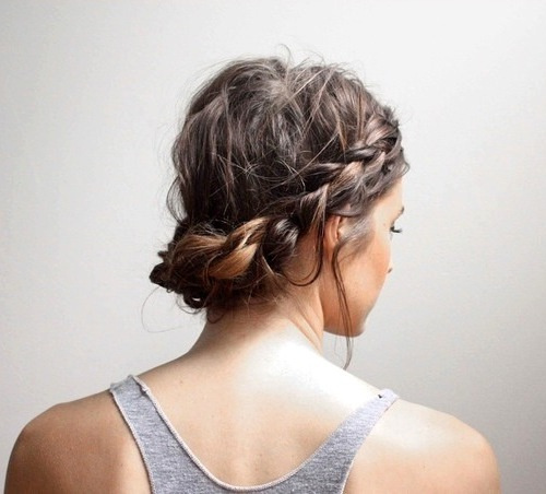 casual updo for short hair