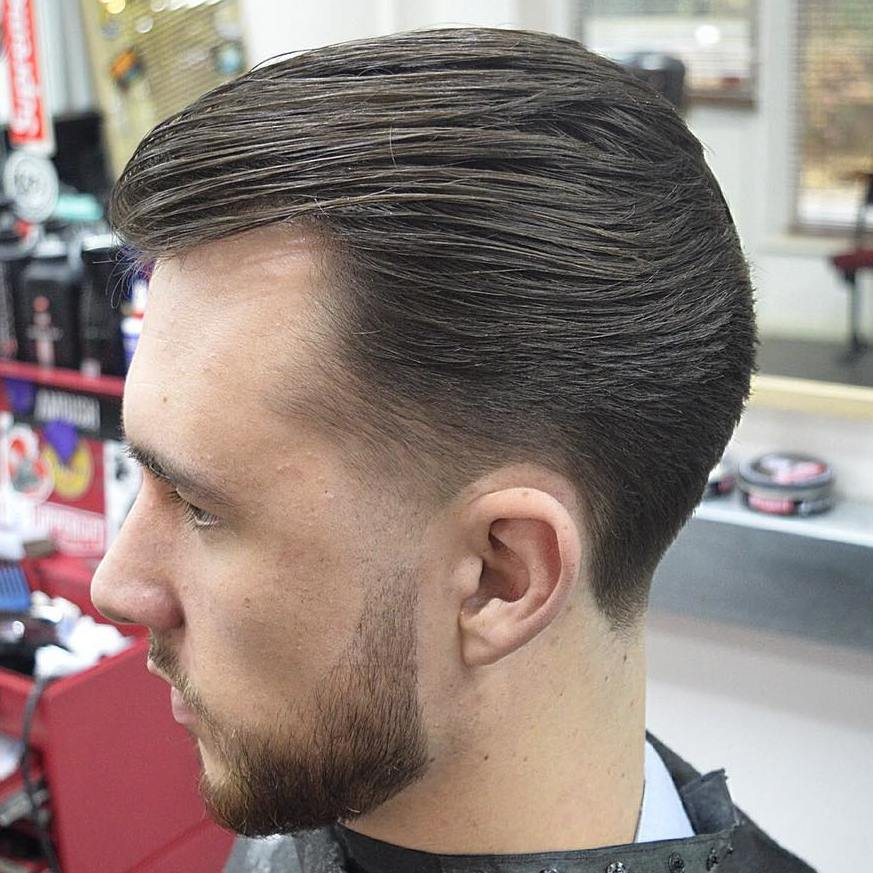 Slicked Back Haircut For Balding Men