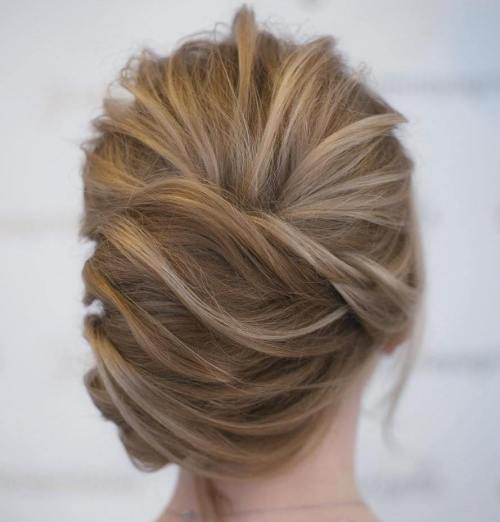 Asymmetrical Messy French Twist