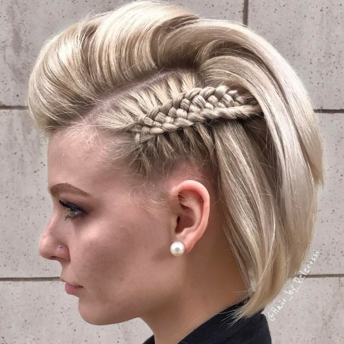 Bob Mohawk With Macrame Braid