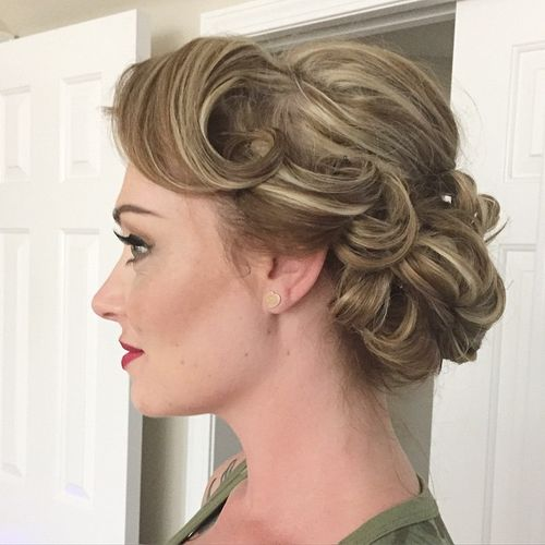 short curly hair updo styles 60 updos for hair your creative hair inspiration 3389 | 4 curly updo for short hair