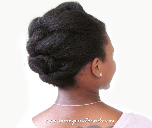 Easy Hairstyles For Natural Hair natural hair updo with twists and curls Beautiful Natural Hair Updo