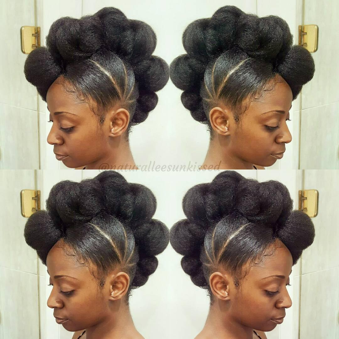 Updos for medium black hair