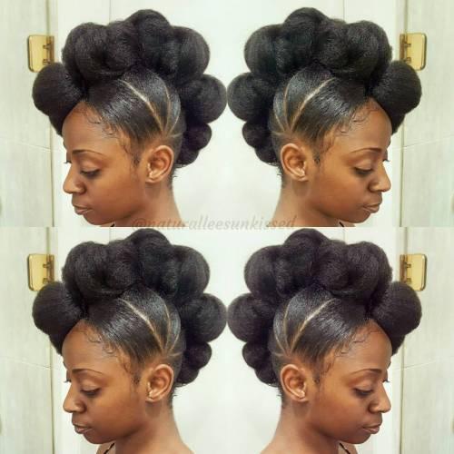 Marvelous 50 Updo Hairstyles For Black Women Ranging From Elegant To Eccentric Short Hairstyles For Black Women Fulllsitofus