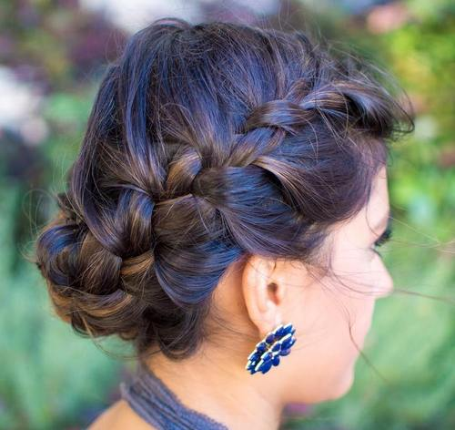 crown braid updo