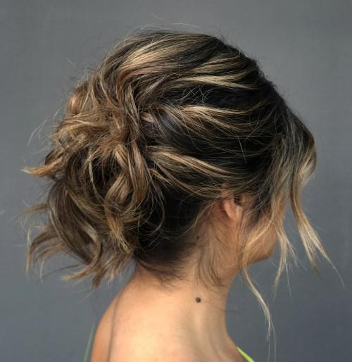 Messy Updo For Shorter Hair