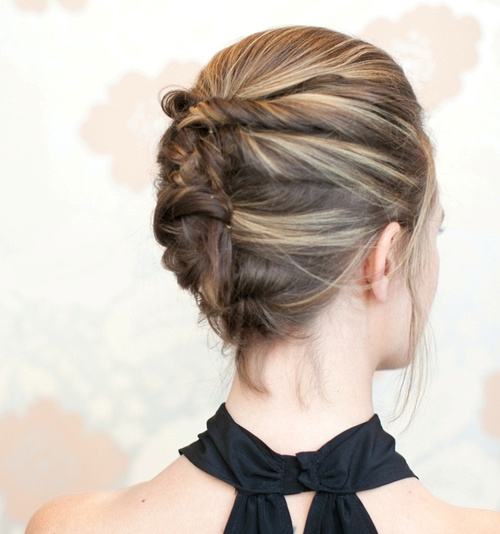 french twist formal updo