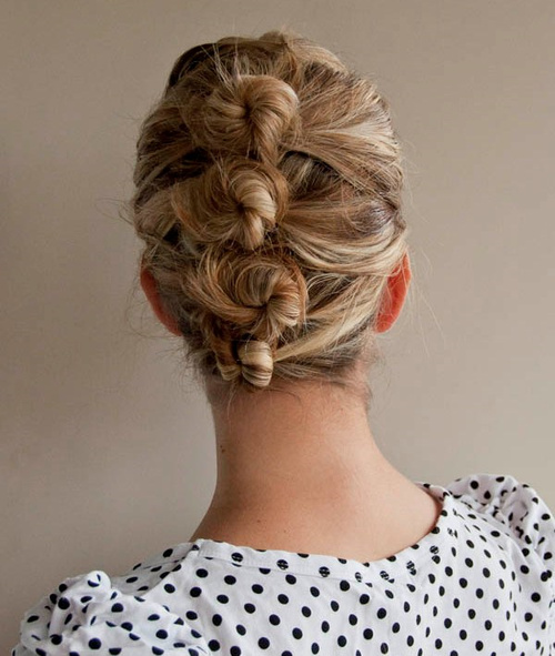 knotty french twist updo