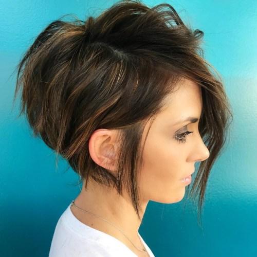 Short Asymmetrical Haircut | 60 Gorgeous Long Pixie Hairstyles