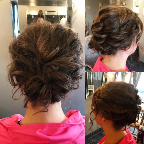 60 updos for short hair your creative short hair inspiration curly updo for short hair solutioingenieria Gallery