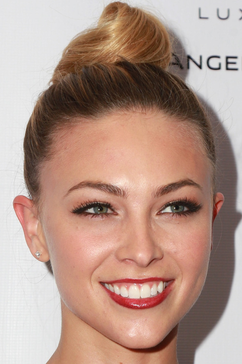 sleek high bun hairstyle for long hair