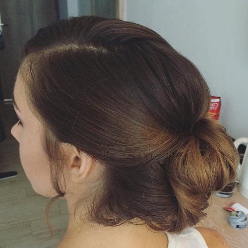 Loose Bun Updo For Long Hair