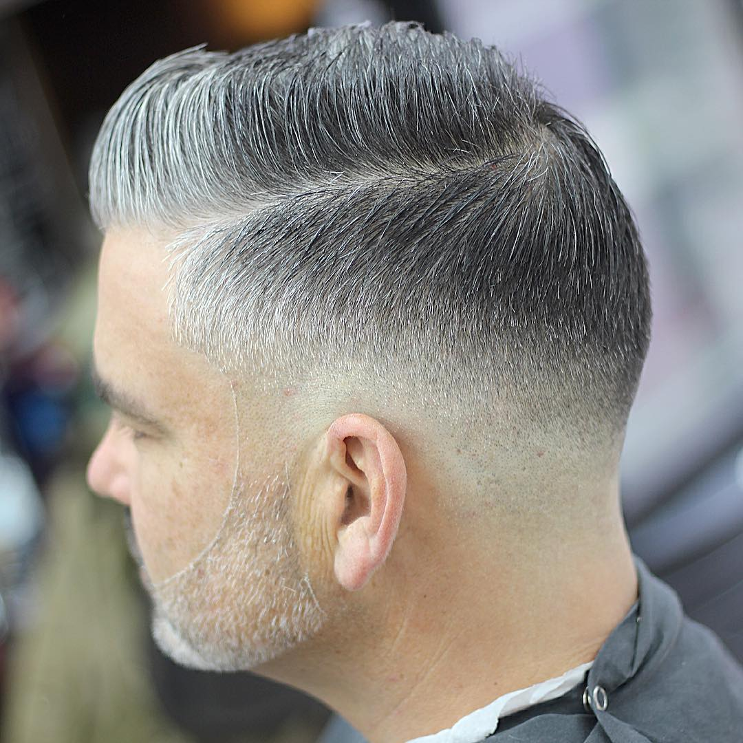 Gradient Grey Crew Cut
