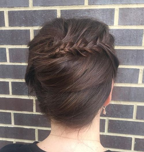 french twist with a braid