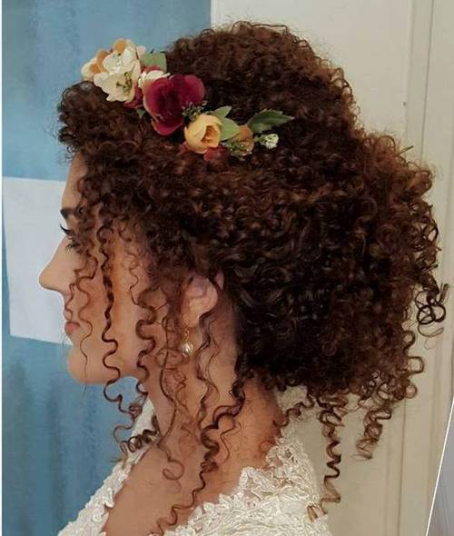 40 creative updos for curly hair bridal loose updo for perm solutioingenieria Gallery