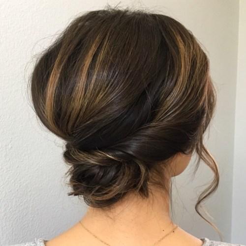 Formal Chignon For Short Hair