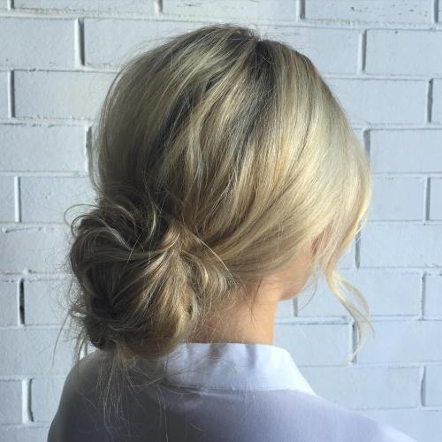 Low Messy Bun Updo