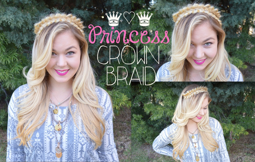 half up crown braid updo