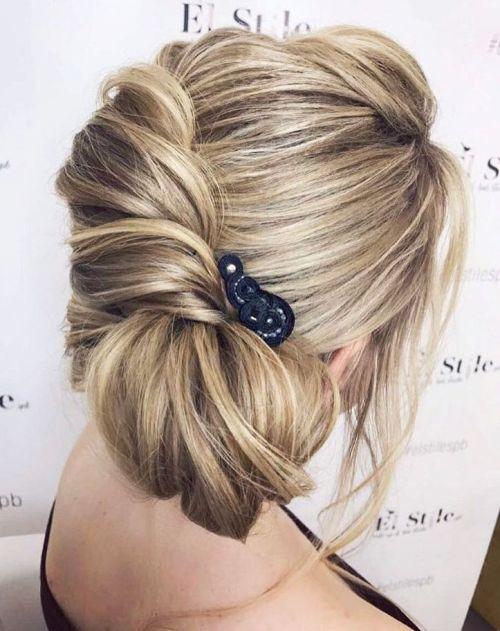 French Twist With A Side Bun