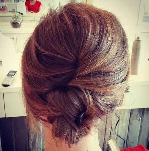 casual french twist for medium hair