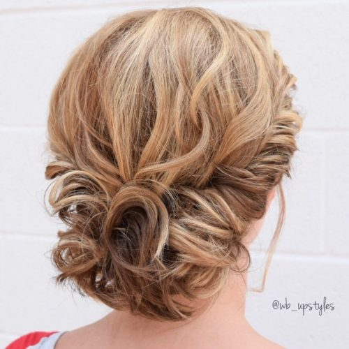 Curly Gibson Tuck Updo