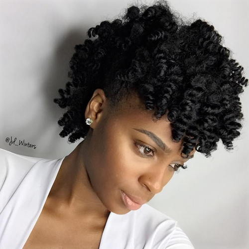 short curly hairstyle for black women