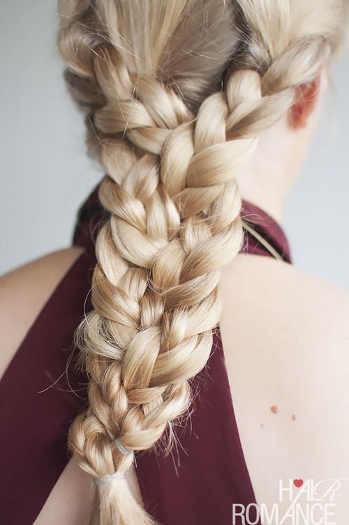 triple braid hairstyle for long hair