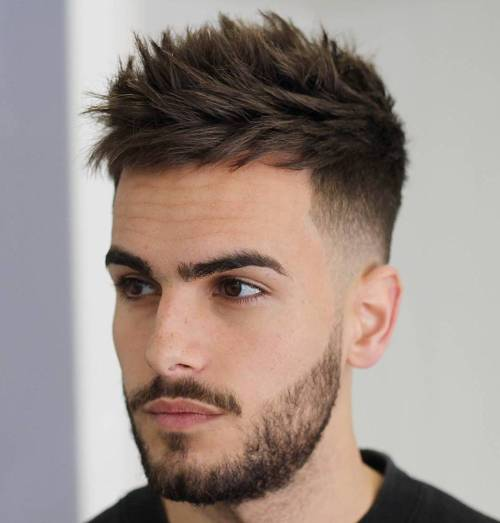 Men's Spiky Undercut Haircut