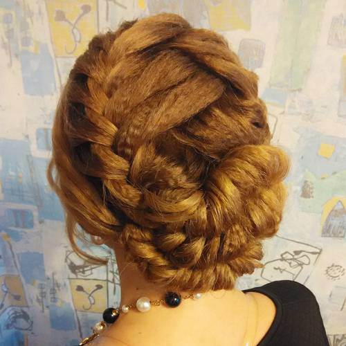 fancy braided updo for long hair
