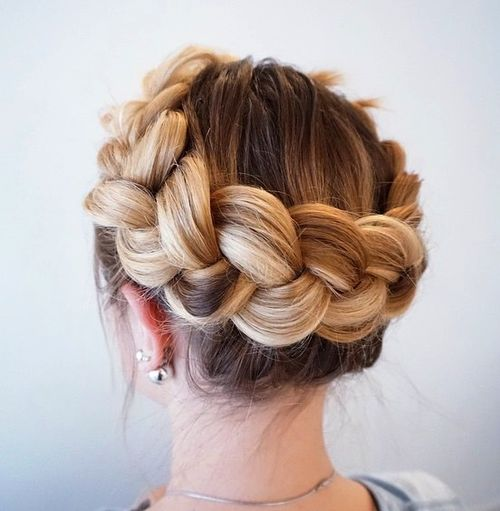 30 elegant french braid hairstyles crown braid updo ccuart Gallery