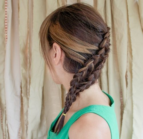 two french braid hairstyle for brunettes