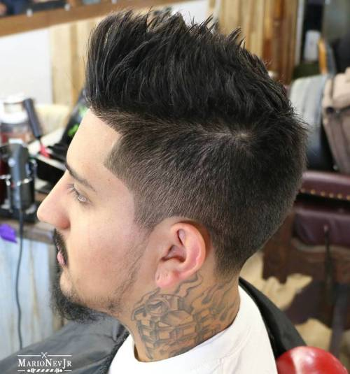 Men's Simple Spiky Haircut