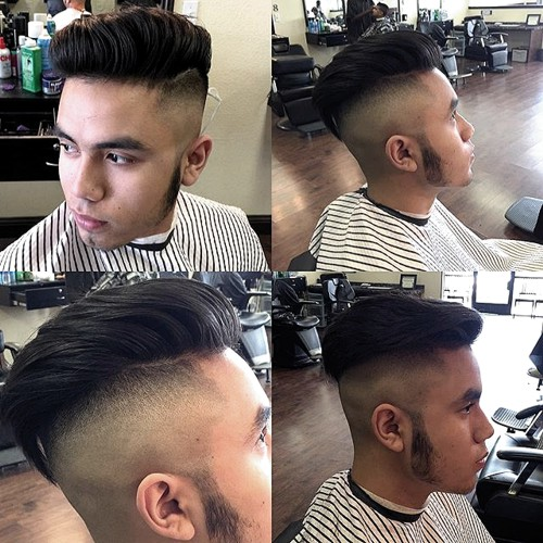 long top shaved sides hairstyle for men