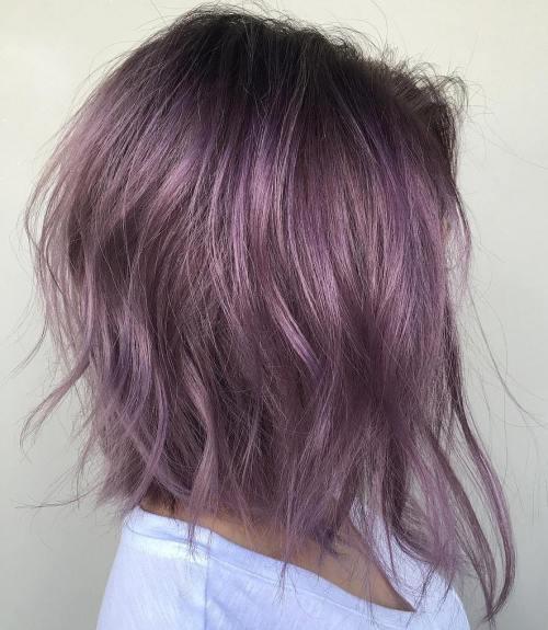 Purple Angled Bob