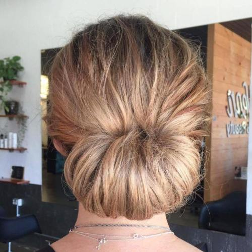 Chignon For Long Tousled Hair