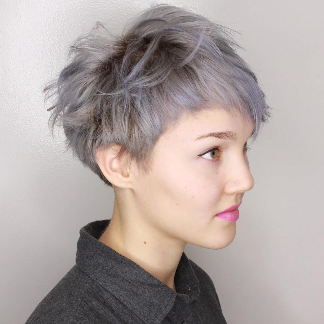 Choppy Gray Pixie