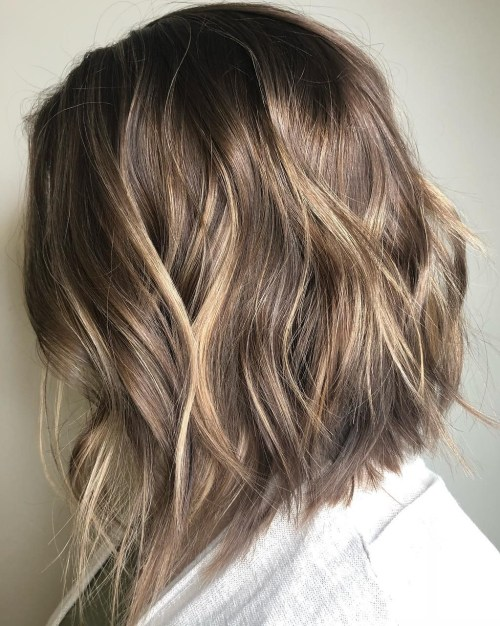 Long Choppy Bronde Bob