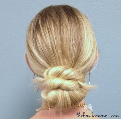 low bun with twists formal updo