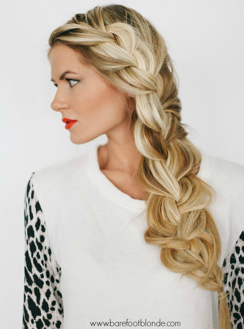 very loose 3d side braid