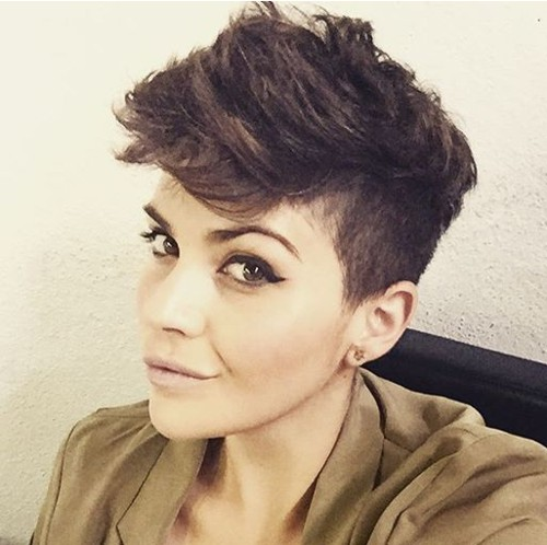 women's short edgy haircut